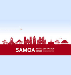 Samoa travel destination vector