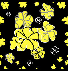 Seamless floral pattern yellow inflorescence vector