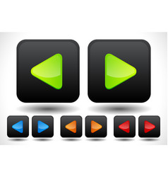 Set of rounded left and right arrow buttons arrow vector