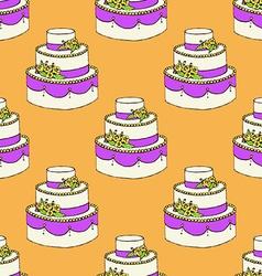 Sketch wedding cake vector image