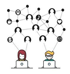 Social media network people vector