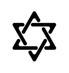 Star of david hexagram sign symbol of jewish vector