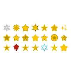 stars icon set flat style vector image