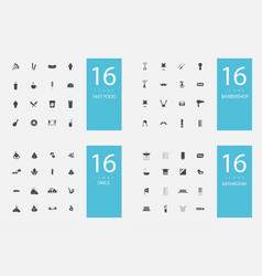 Stylish set 4 themes and icons vector