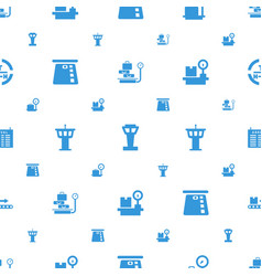 Terminal icons pattern seamless white background vector