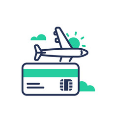 Travel - modern single line design icon vector