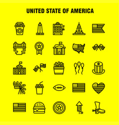 Usa line icon pack for designers and developers vector