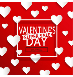 valentines day super sale vector image