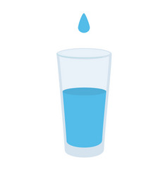 water glass with dop icon in flat style soda vector image