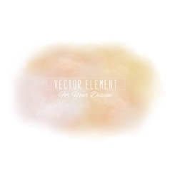 Watercolor spot cream tones vector