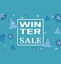 Winter sale concept banner cartoon style vector