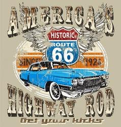 americas highway rod vector image vector image