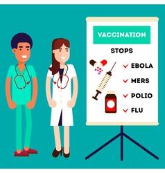 Pharmacy Doctors Characters vector image