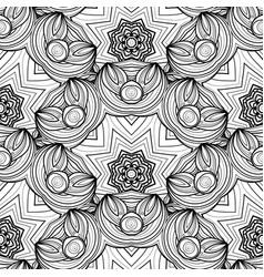 seamless monochrome ornate pattern vector image