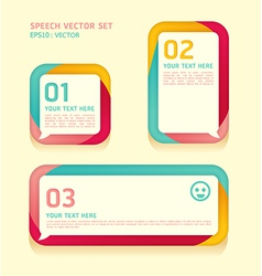 Banner speech bubbles soft color vector image vector image
