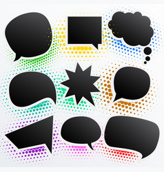 collection of black comic empty chat bubble vector image vector image