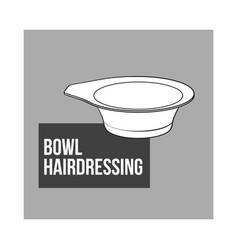 Color mixing plastic hairdresser bowl sketch vector
