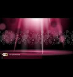 glamorous lights waves sparkling effects vector image