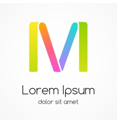 Logo letter M company design template vector image