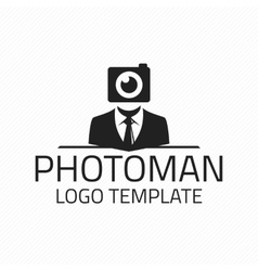 Photographer logo template vector