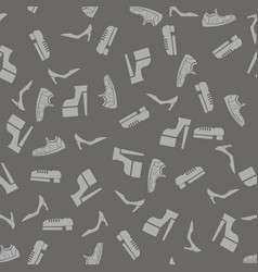 silhouettes of shoes seamless pattern vector image