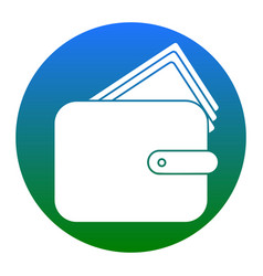 wallet sign white icon in vector image