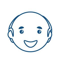 Adult male bald head vector
