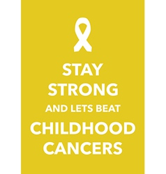 childhood cancers poster vector image vector image