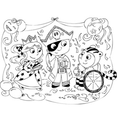 Costume Party for kids vector image vector image