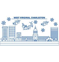usa west virginia charleston winter city vector image