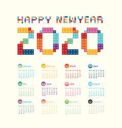 2020 calendar calendar design vector image