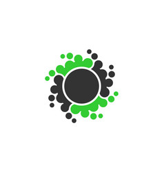 Abstract dot circle icon element vector