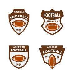 american football or rugcolored badges vector image