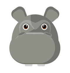 avatar of a hippo vector image vector image