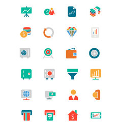Banking and Finance Colored Icons 3 vector
