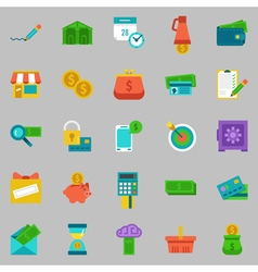 banking Icons set - pay and receive money vector image