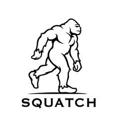 bigfoot sasquatch icon vector image