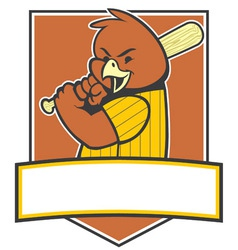 bird baseball player vector image