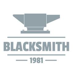 Blacksmith logo vintage style vector