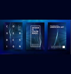 blue poster design music wave banner vector image