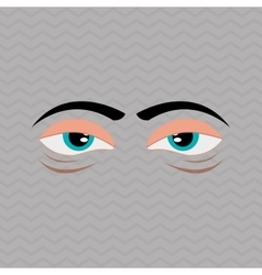 Cartoon face design vector image