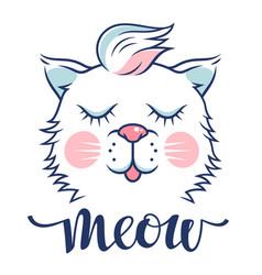 cat 009 vector image