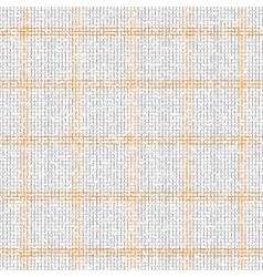 Checkered grey orange pattern vector