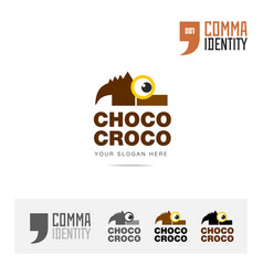 chocolate company logo icon concept template vector image