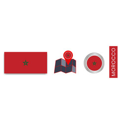 Collection moroccan flags isolated in official vector