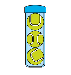 colorful image cartoon tennis balls container vector image