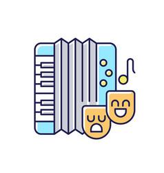 comedy music rgb color icon vector image