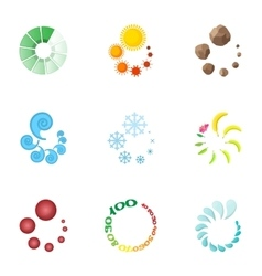 Computer download icons set cartoon style vector