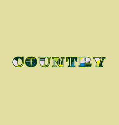Country concept word art vector