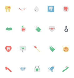 Dental Colored Icons 4 vector